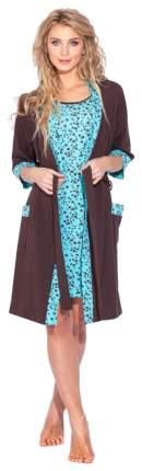 Халат EvaTeks STAR E 520 4241 L цвет Ментоловый; Шоколадный