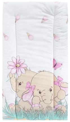 Комплект в коляску (матрасик+подушка) Leader Kids «Два слоника» GL000722817, бязь, Розовый