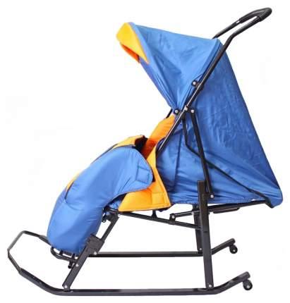 Санки-коляска R-Toys Шустрик-Имго-6 синий-оранжевый