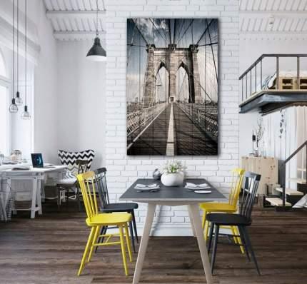 Картина на дереве Бруклинский мост 60 х 90 см