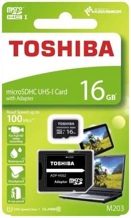 Карта памяти TOSHIBA Micro SDHC THN-M203K0160EA 16GB