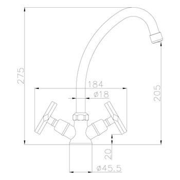 Смеситель для кухонной мойки LEMARK LM6050C