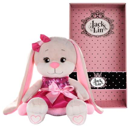 Мягкая игрушка ack and Lin Зайка Lin в розовом платьице