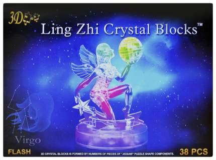 Пазл 3D кристаллический, Знак зодиака Дева, 38 деталей, световые эффекты Sima-Land