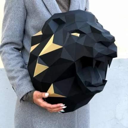 """3D-конструктор Paperraz """"Лев Николаевич"""" чёрный"""