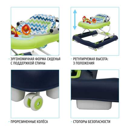 Детские ходунки Nuovita Avanti Blu Verde/Сине-зеленый