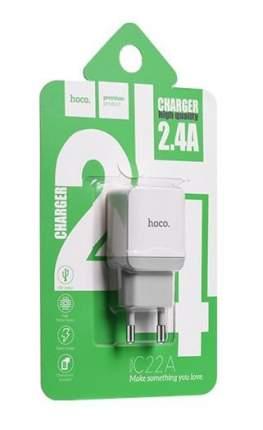 Сетевое зарядное устройство Hoco C22A 1 USB 2,4A White