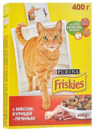 Сухой корм для кошек Friskies, мясо, курица, печень, 0,4кг