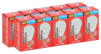 Лампочка Красная цена P45 7W E14 4000K 10 шт