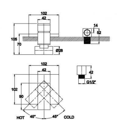 Смеситель для встраиваемой системы Kaiser Sonat 34177-1 Bronze