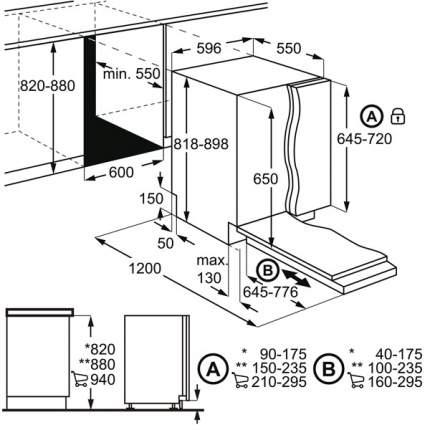 Встраиваемая посудомоечная машина 60 см Electrolux EMS47320L