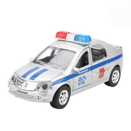 Полицейская Машинка Технопарк Renault Logan 1:43 Полиция