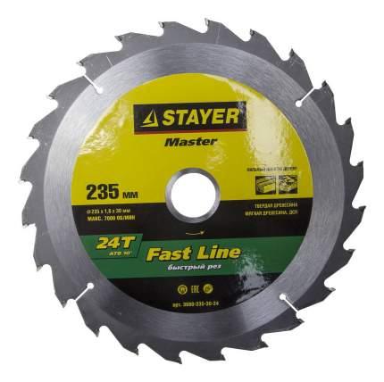 Диск по дереву для дисковых пил Stayer 3680-235-30-24