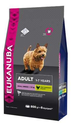 Сухой корм для собак Eukanuba Adult Small Breed, для мелких пород домашняя птица, 0,8кг