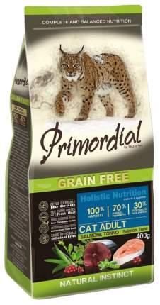 Сухой корм для кошек Primordial Natural instinct, беззерновой, лосось, тунец, 0,4кг