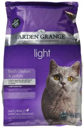 Сухой корм для кошек Arden Grange Light, беззерновой, диетический, курица, 4кг