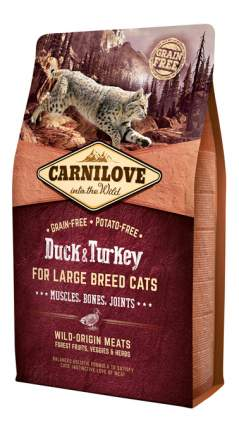 Сухой корм для кошек Carnilove Large Breed, для крупных пород, утка, индейка, 6кг