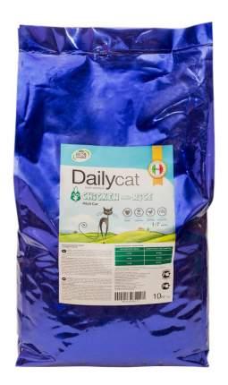 Сухой корм для кошек Dailycat Adult, курица и рис, 10кг