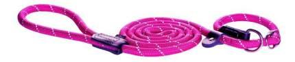 Поводок удавка для собак Rogz Rope L-12мм 1,8 м, Розовый HLXR12K