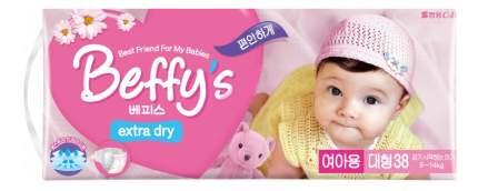 Подгузники Beffy's Extra Dry для девочек L (9-14 кг), 38 шт.