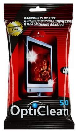 Салфетки для экранов OPTICLEAN влажные для плазмы 50 шт