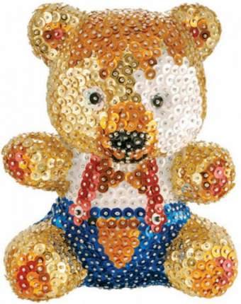 Объемная фигурка с блестками Sequin Art Мишка 0502