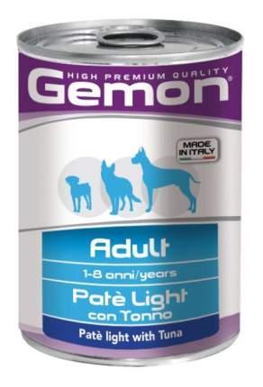 Консервы для собак Gemon Light, облегченный паштет с тунцом, 400г