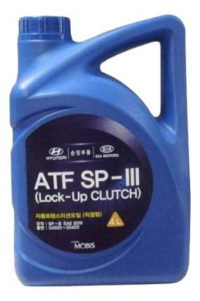 Трансмиссионное масло Hyundai-KIA ATF SP-III 80W 4л 04500-00400