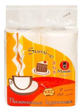 Бумажные полотенца Maneki sumi-e 2 рулона по 60 листов