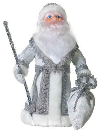 Кукла декоративная Яркий праздник Дед Мороз Серебристый 40 см