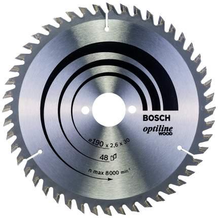 Диск по дереву Bosch STD WO 190x30-48T 2608640617