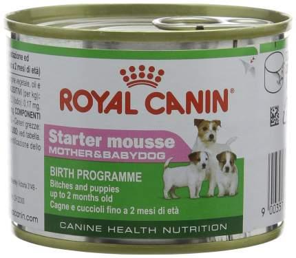 Консервы для щенков ROYAL CANIN Starter Mousse Mother & Babydog, домашняя птица, 195г