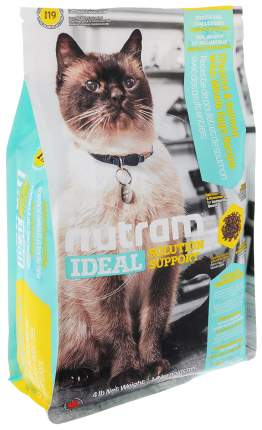 Сухой корм для кошек Nutram Sensitive, для чувствительных, домашняя птица, лосось, 1,8кг