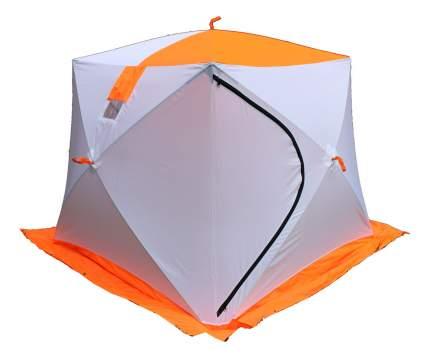 Палатка Пингвин Призма двухместная белая/оранжевая
