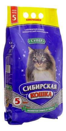 Наполнитель Сибирская кошка комкующийся 5 л тропические фрукты