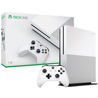 Игровая приставка Microsoft Xbox One S 1Tb+As.Creed+TCR6Siege+ForzaMS6+QBreak+Crew (код)