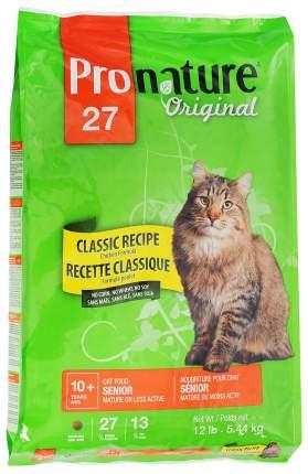Сухой корм для кошек Pronature Original Senior, для пожилых, облегченный, цыпленок, 5,44кг