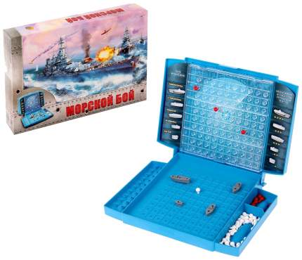 Семейная настольная игра Рыжий кот Морской бой