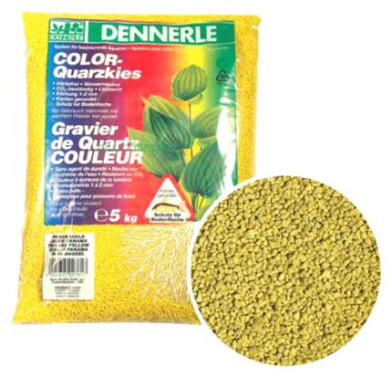 Грунт для аквариума Dennerle Color-Quarz желтый 5кг