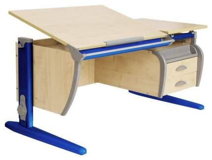Парта Дэми СУТ 17-05Д2 с двумя двухъярусными задними и боковой приставками Синий 120 см