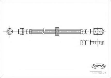 Шланг тормозной Corteco 19026623