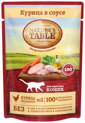 Влажный корм для кошек Nature's Table, курица, 24шт, 85г