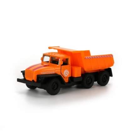 Машинка Технопарк металлическая инерционная УРАЛ самосвал оранж, каб, 12 см