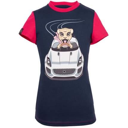Футболка для девочек Jaguar Girls' Car Graphic T-Shirt, Navy/Pink, артикул JDTC813RDO