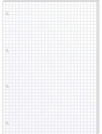 Комплект сменных блоков OfficeSpace, А5, белый 20 штук