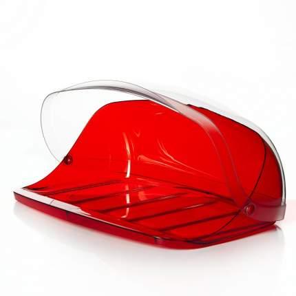 """Хлебница Idea """"Кристалл"""", 40 х 29 х 16 см (красный прозрачный)"""