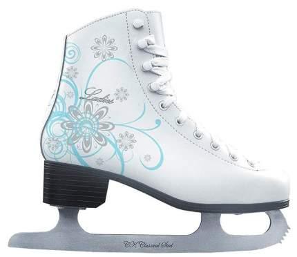 Коньки фигурные Спортивная Коллекция Ladies Velvet Classic белые, 39
