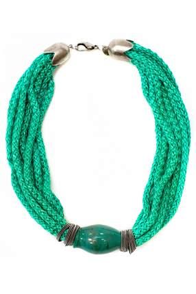 Колье женское Divetro 82716-1 зеленое/серое