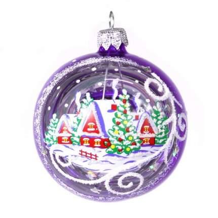Шар на ель Елочка Зимний С 43-фиолет 7,5 см 1 шт.