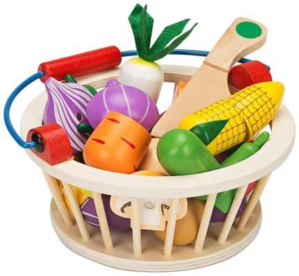 Набор овощей игрушечный в корзине Sima-Land